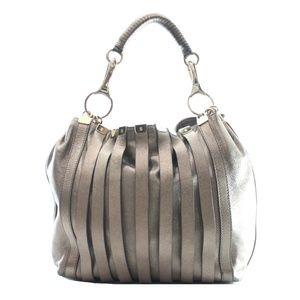Versace Bronze Leather Satchel